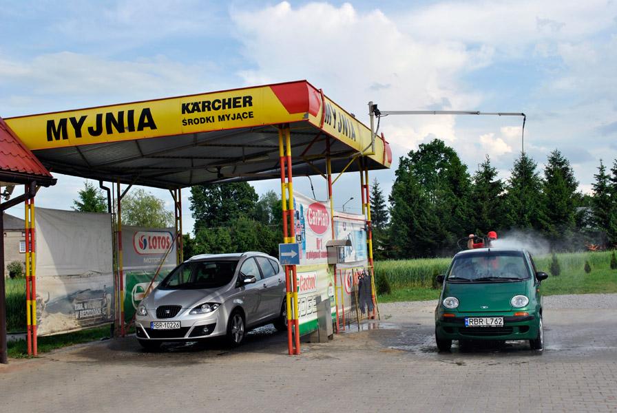 Dwustanowiskowa bezdotykowa myjnia samochodowa - STACJA KONTROLI POJAZDÓW<br/>przy Stacji Paliw